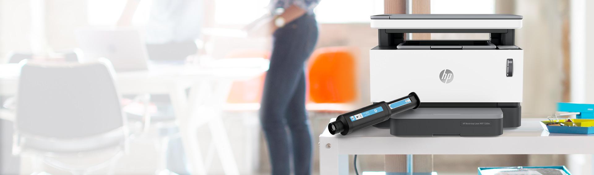 HP NEVERSTOP LASER. Ahorra hasta 10%*. La impresora láser con tanque de tóner recargable.