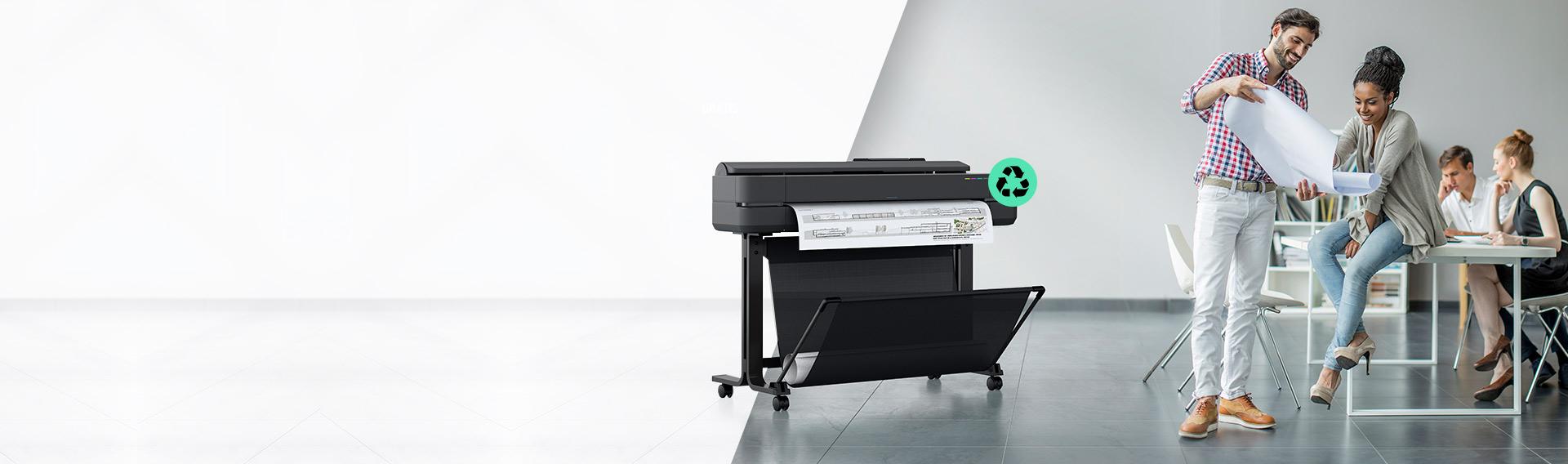 Nueva Serie HP Designjet los plotters más pequeños del mundo.