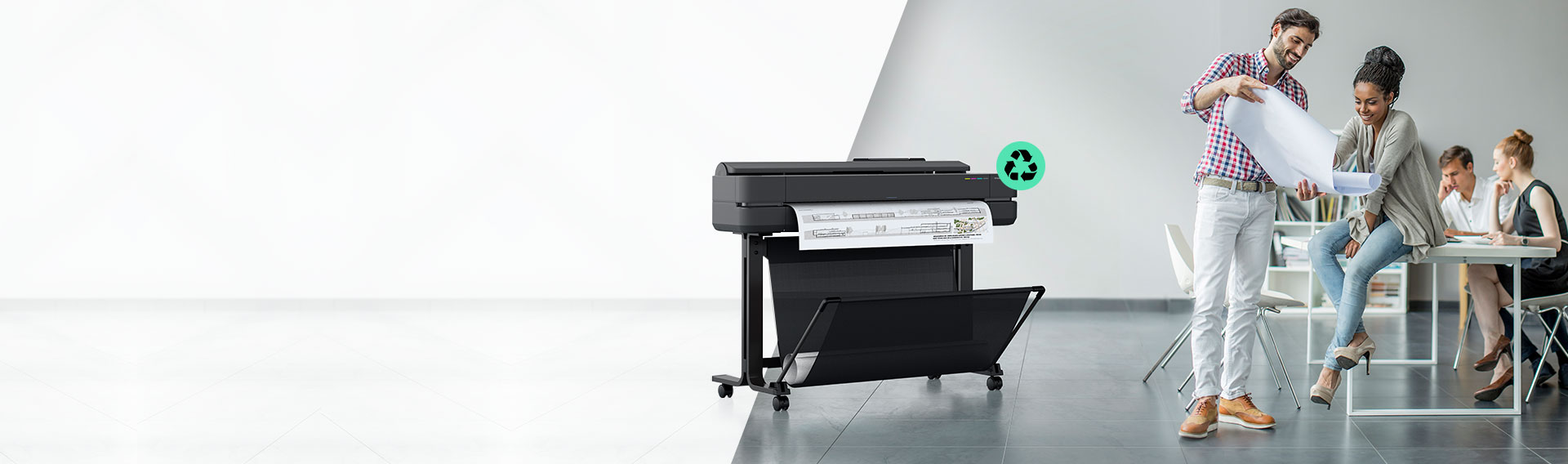 Nueva Serie HP DesignJet. Los plotters más pequeños, más sustentables que nunca*