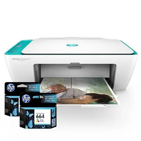 Cartuchos de Tinta para Impresora Multifuncional HP DeskJet Ink Advantage 2675