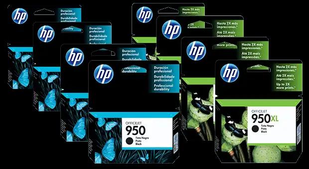 Familia de Cartuchos de Tinta HP 950, HP 950XL, HP 951 y HP 951XL