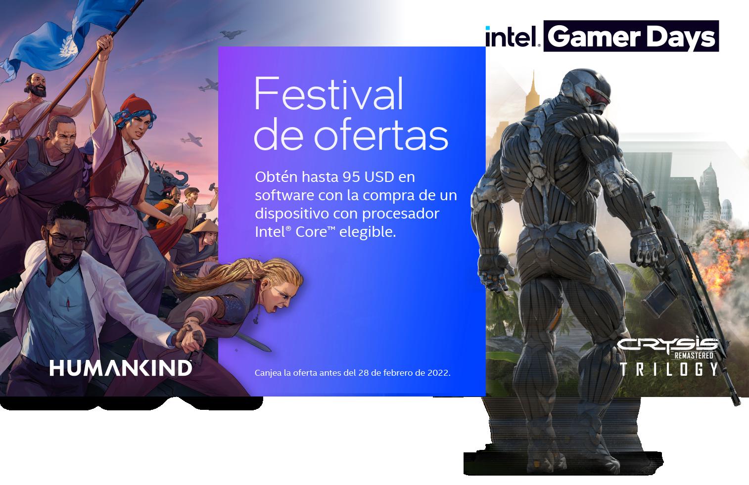 Descarga Crysis y Humankind con Intel y HP