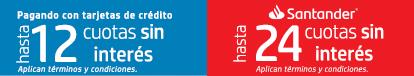 Paga tus compras hasta en 24 cuotas sin interés con Santander. Aprovecha Envío Gratis.