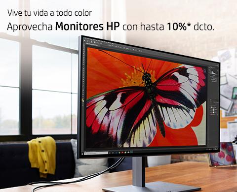 Monitores HP con hasta 10%* dcto.