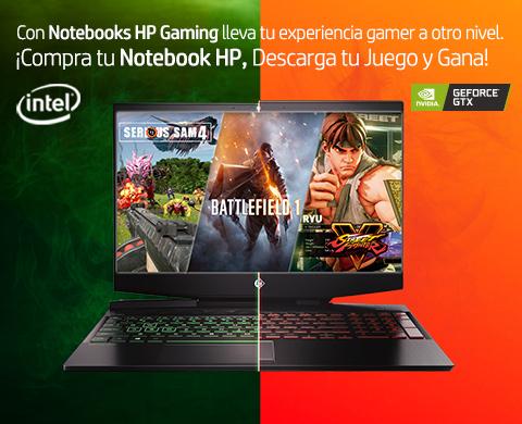 ¡Compra tu Notebook HP, Descarga tu juego y Gana!