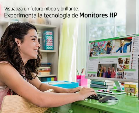 Experimenta la tecnología de Monitores HP.