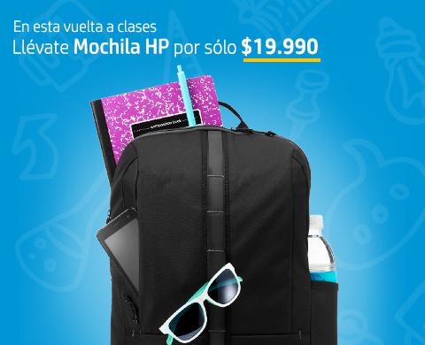 En esta vuelta a clases. Mochilas HP por sólo $19.990*