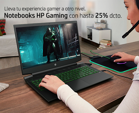 Notebooks HP Gaming con hasta 25% dcto.