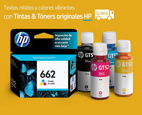 Tintas & Tóners originales HP con envío gratis.