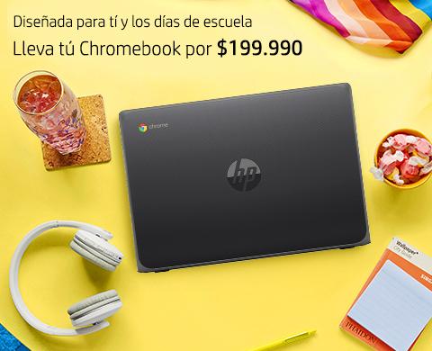 Lleva para tus días de escuela la HP Chromebook desde $199.990