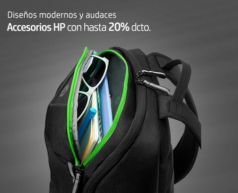 Diseños modernos y audaces. Accesorios HP con hasta 20% dcto.