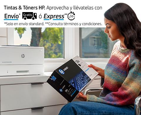 Tintas & Tóners HP llévatelas con envío* gratis o Express**.