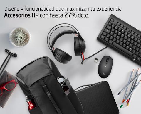 Diseño y funcionalidad que maximizan tu experiencia. Accesorios HP con hasta 27% dcto.
