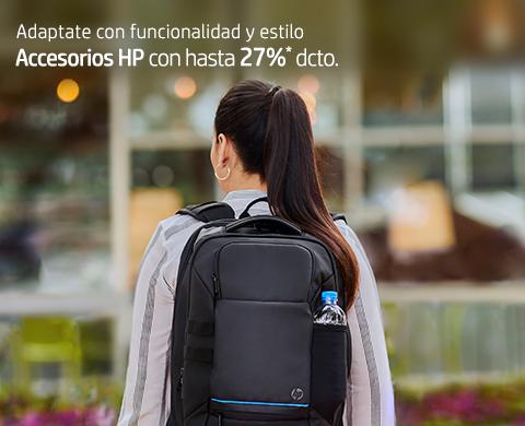 Adaptate con funcionalidad y estilo. Accesorios HP con hasta 27%* dcto.