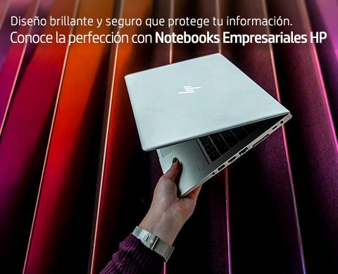 Diseño brillante y seguro que protege tu información. Conoce la perfección con Notebooks Empresariales HP.