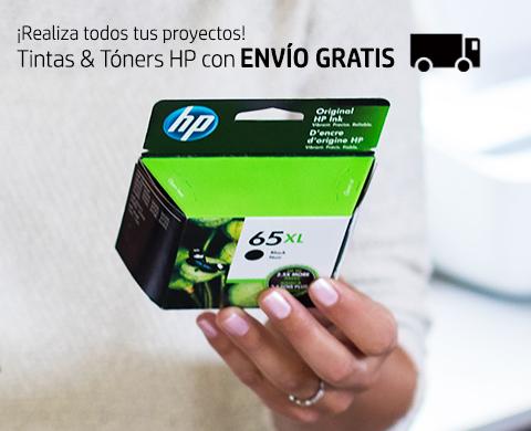 ¡Realiza tus proyectos! Tintas & Tóners HP con ENVÍO GRATIS.*